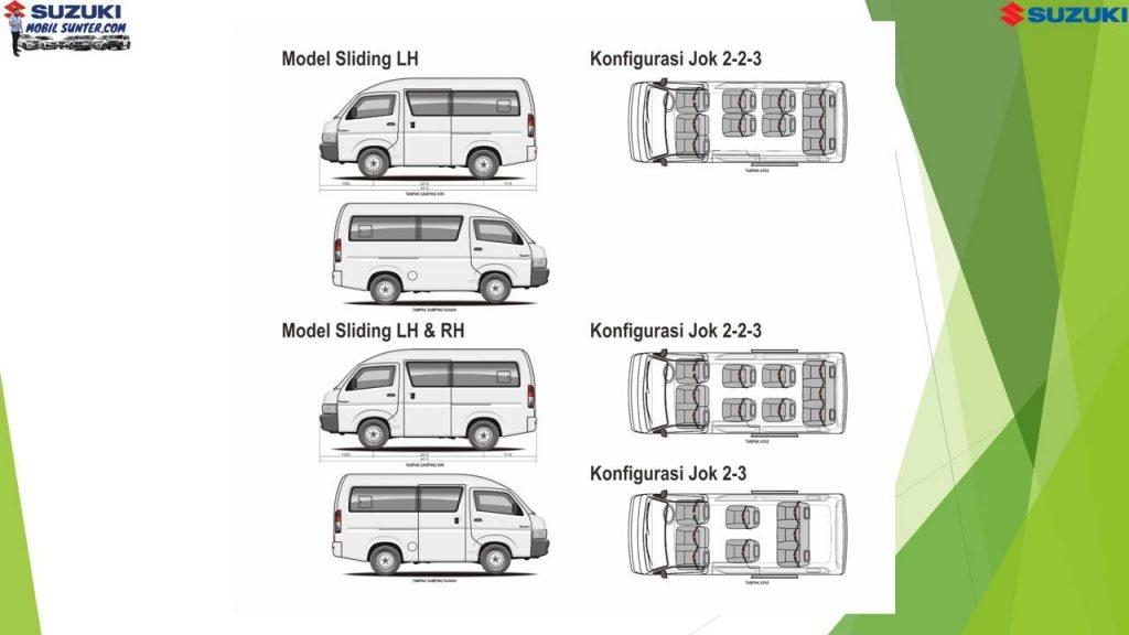 Interior Tipe Konfigurasi Jok Carry Minibus